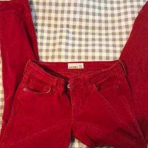 Old navy skinny jeans red corduroy